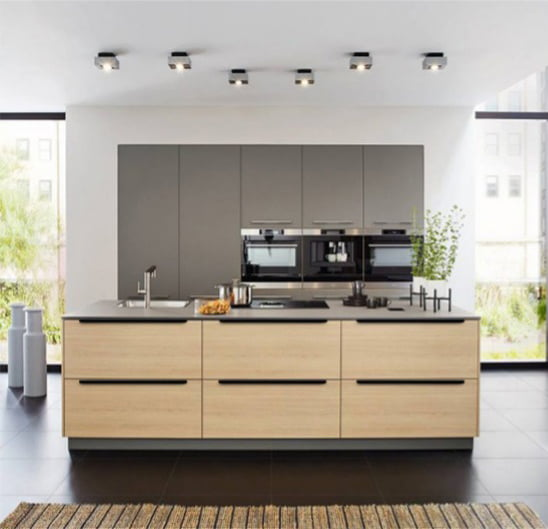 Kitchen Cabinet Handles Australia: Contemporary Kitchen Lip Pull Handles Matt Black